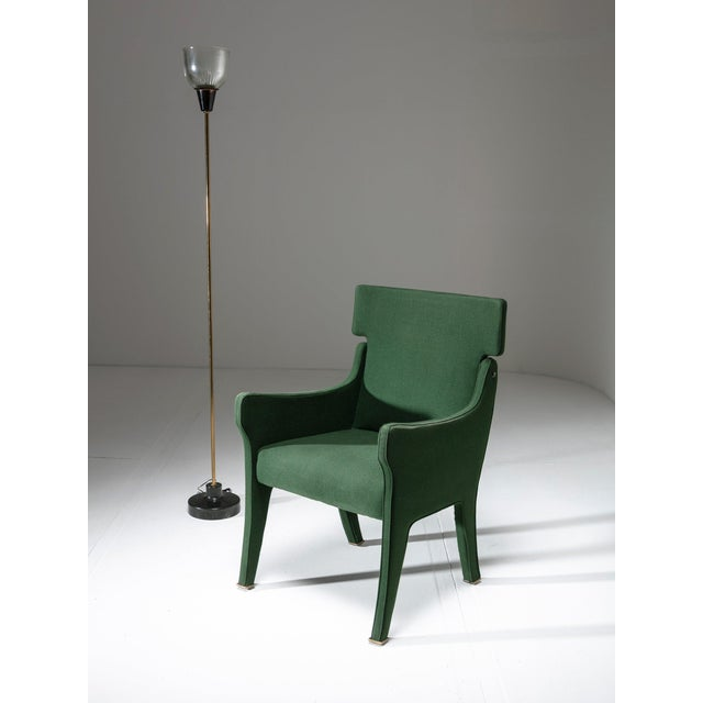 "Brass Armchair Model ""R63"" by Ignazio Gardella for Azucena For Sale - Image 7 of 8"