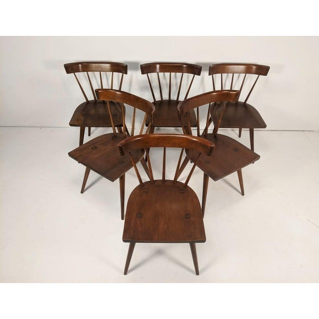 Wood Mid Century Modern Paul McCobb Solid Maple Drop Leaf Dining Set - 7 Pieces For Sale - Image 7 of 13