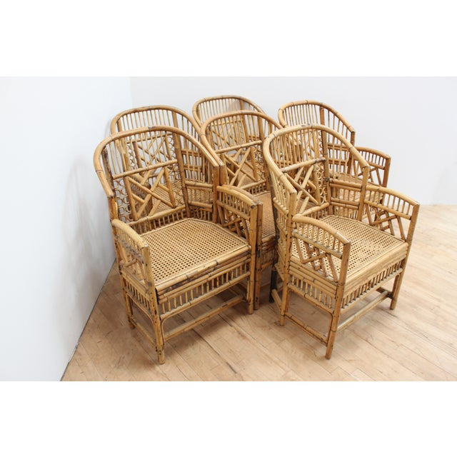 Brighton Pavilion Hand Caned Brighton Pavilion Dining Chairs- Chinese Chippendale Fretwork - Set of 6 For Sale - Image 4 of 8