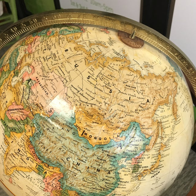 Wood Mid Century Replogle Globe For Image 7 Of 11