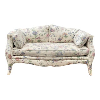 Curvy French Style Loveseat by Henredon For Sale