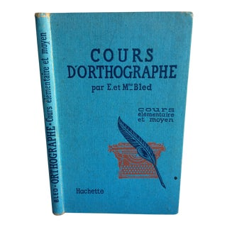 "Mid-Century French ""Cours D'Orthographe"" Book For Sale"