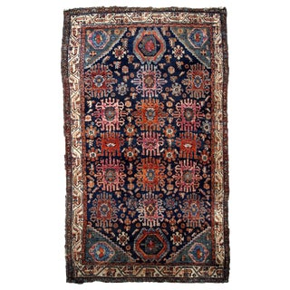 1910s, Handmade Antique Persian Malayer Rug 4.1' X 6.3' For Sale
