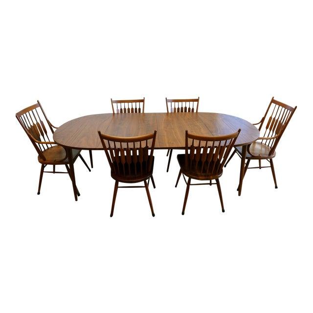 Mid Century Modern Kip Stewart For Drexel Declaration Dining Set 7