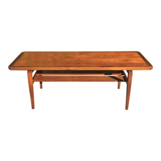 Mid Century Modern Teak Coffee/Console Table For Sale