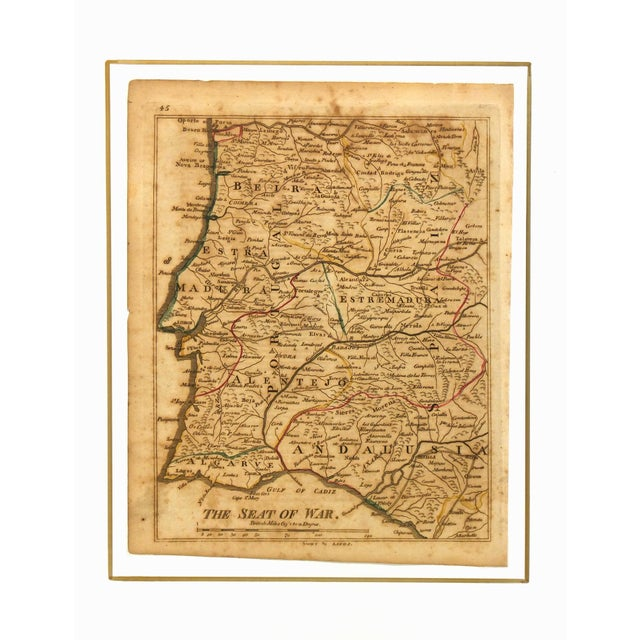 1811 Vintage Andalusia And Portugal Map - Image 3 of 3