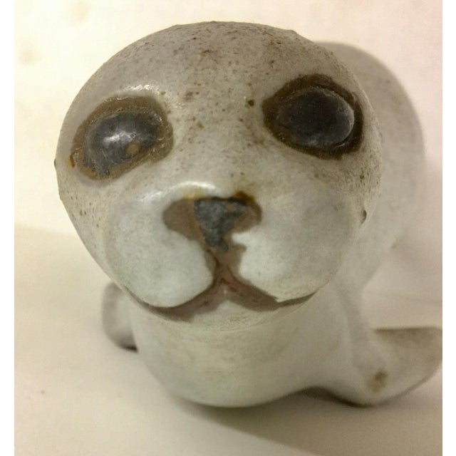 Artisan Clay Sculpture of a Seal For Sale - Image 9 of 10