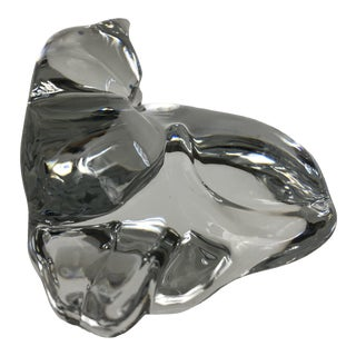 Baccarat Reclining Cat Figurine For Sale