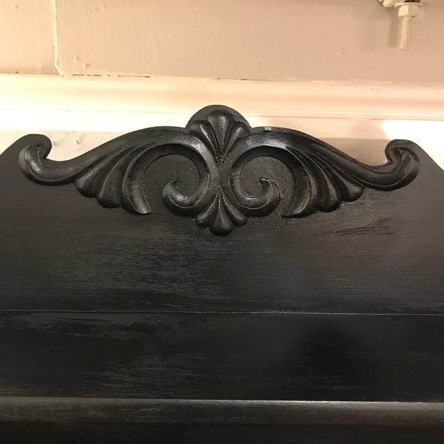 1900 - 1909 Victorian Oak Drop Down Painted Black Secretary Desk For Sale - Image 5 of 7