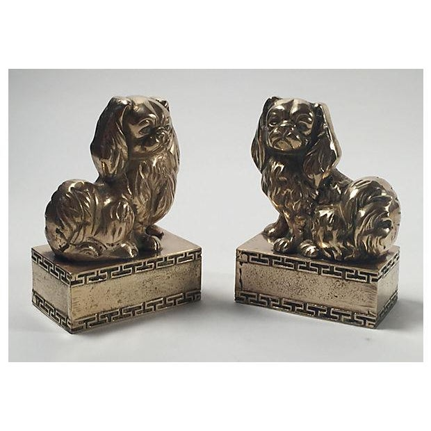 Brass Spaniel Bookends - Pair - Image 2 of 4