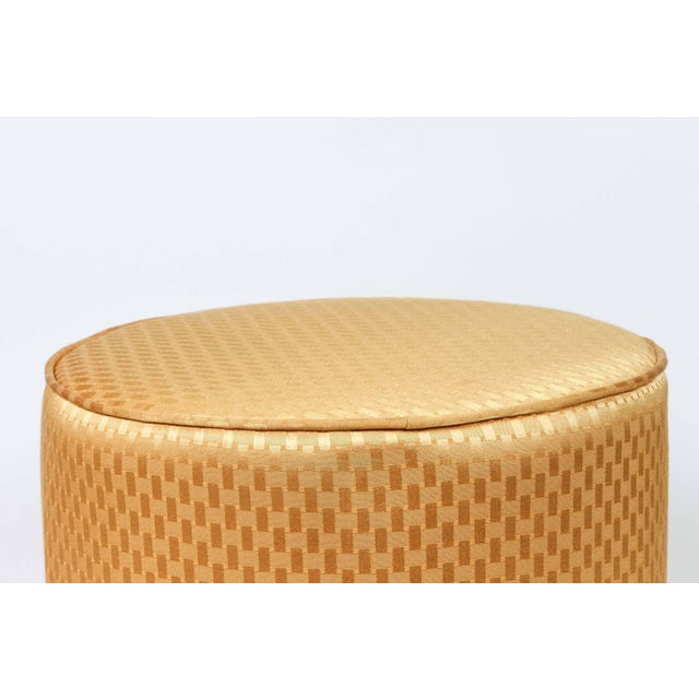 Moroccan Vintage Mid Century Gold Moroccan Stools- a Pair For Sale - Image 3 of 8