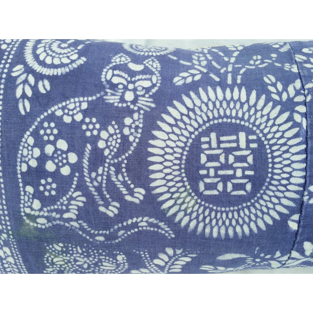 Hand Batik Cat Design Lumbar Pillow - Image 3 of 5