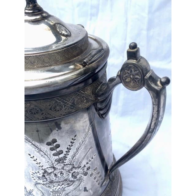 Traditional 1870s Reed & Barton Victorian Silverplated Water Pitcher For Sale - Image 3 of 13