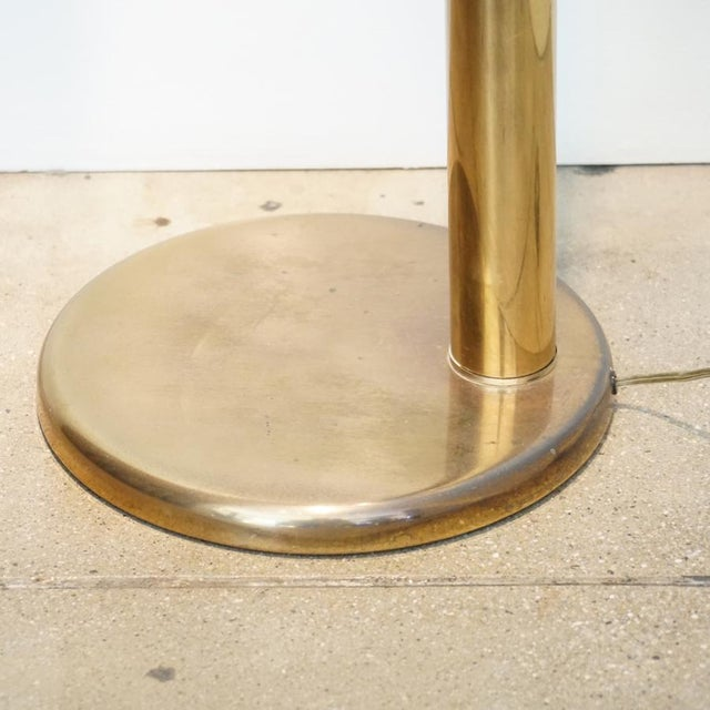 1970s Brass Tube Floor Lamp For Sale In Los Angeles - Image 6 of 9