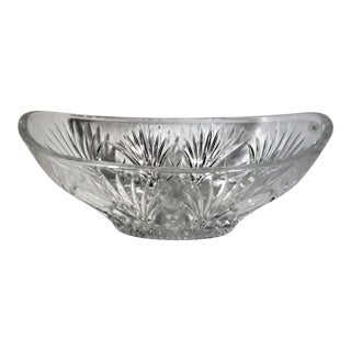 Waterford Newberry Crystal Oval Bowl Marquis Made in Germany For Sale