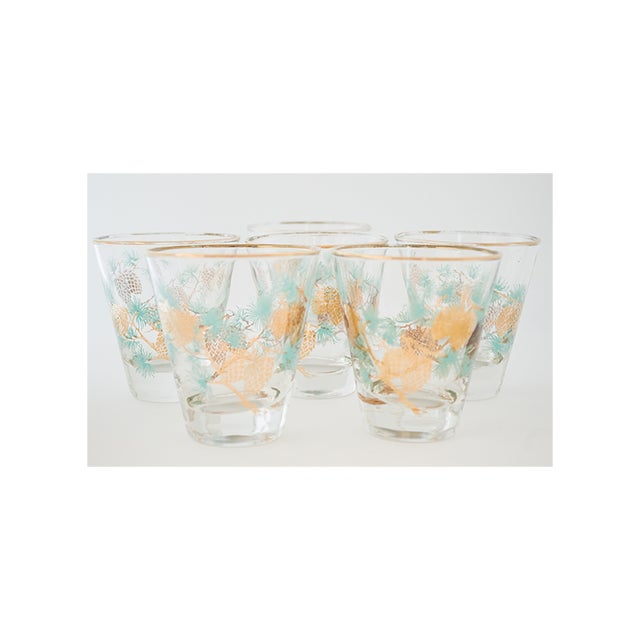 Set of 6 Pinecone Juice Glass by David Douglas for Libbey - Image 2 of 6