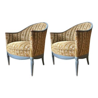 Pair of French Art Deco Style Armchairs For Sale