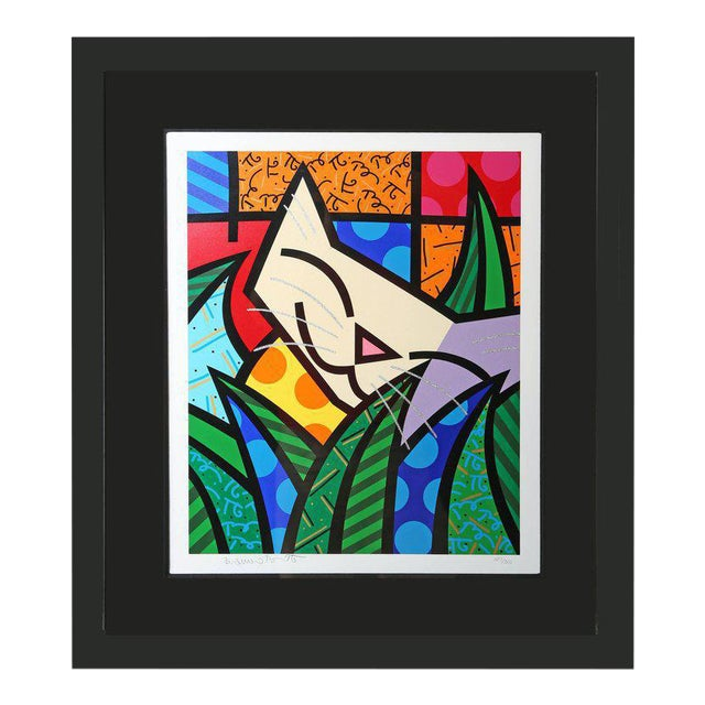 Behind the Bushes, Limited Edition Serigraph by Romero Britto For Sale