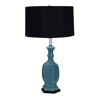 Turquoise Blue Chinese Modern Table Lamp For Sale