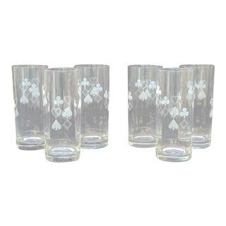 Poker Highball Glasses - Set of 6 For Sale