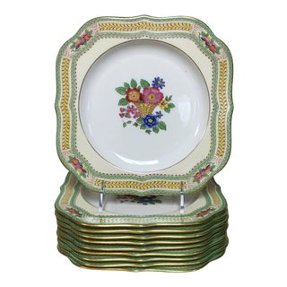 Lenox Floralia Square Salad Dessert Plates Set 10 For Sale