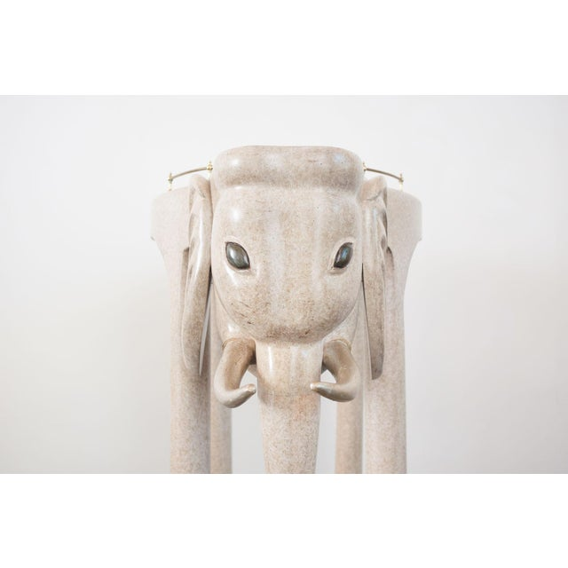 Hollywood Regency Marge Carson Elephant Bar Rolling Table For Sale - Image 3 of 9
