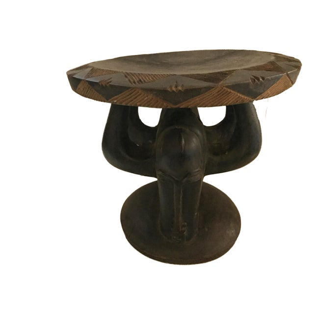 """1970s Superb African Baga Low Stool Guinea 12"""" H For Sale - Image 5 of 12"""