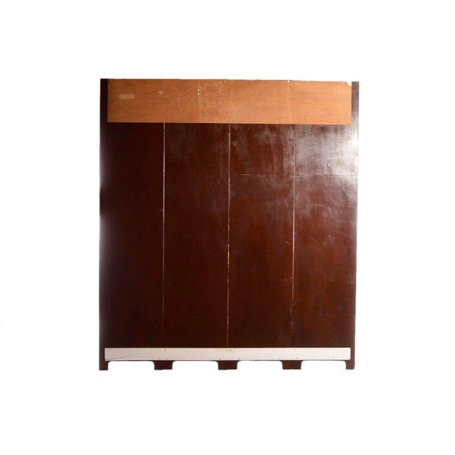 Late 20th Century Painted Wood Four-Panel Hunting Scene Room Divider For Sale - Image 4 of 8