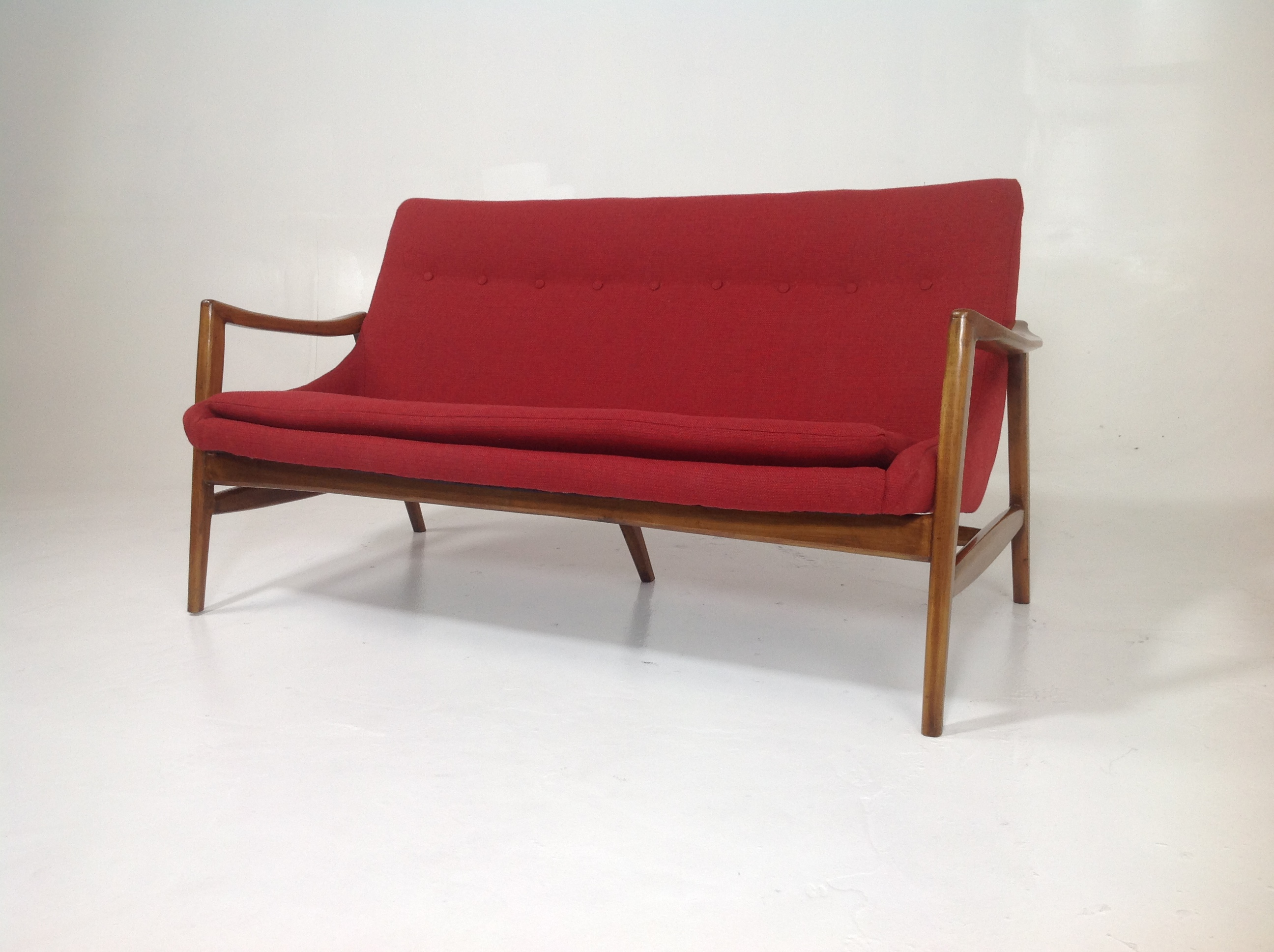 Custom Made Mid Century Style Sofa. The Sofa Was Made In The Style