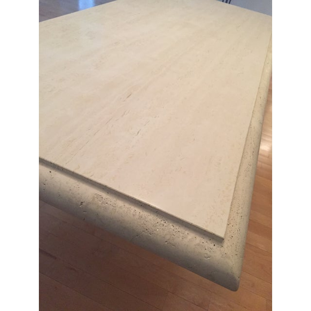 Solid Travertine Dining Table - Perfect and Incredible - Image 10 of 11