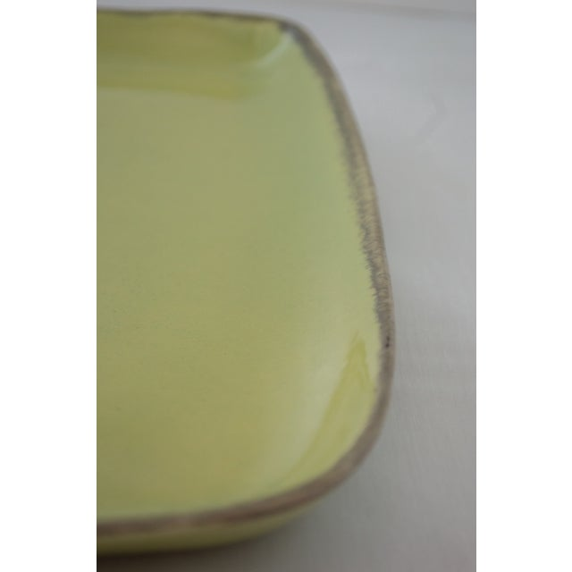 "Winfield Pasadena Chartreuse 14"" Square Platter For Sale - Image 5 of 7"