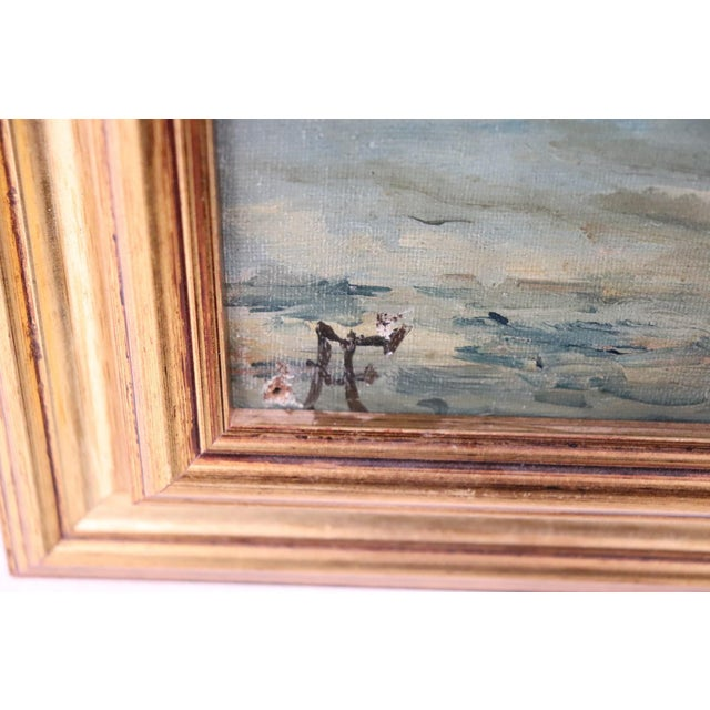 20th Century Venice Oil Painting on Canvas With Golden Frame For Sale - Image 4 of 7
