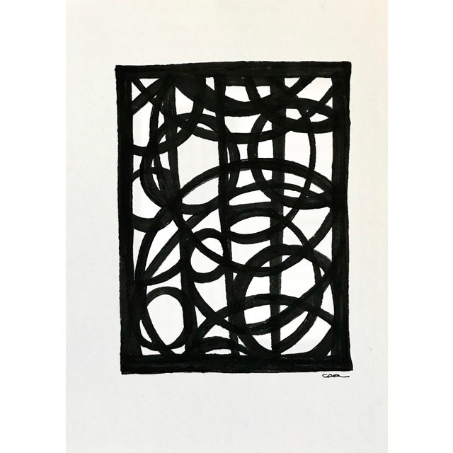"""Lineworks I"" Original Mixed Media Painting - Image 2 of 6"