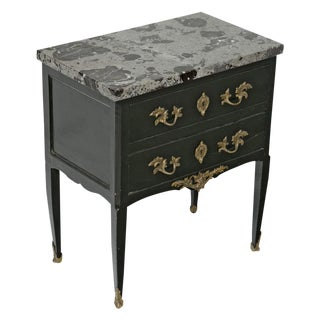 19th Century Louis XVI Style Swedish Ebonized Marble Top Chest For Sale