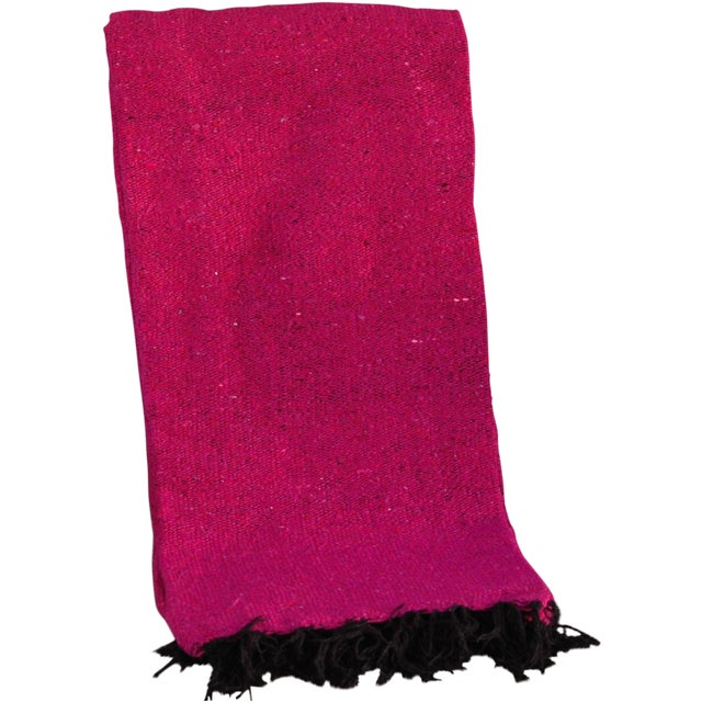 Mexican Boho Chic Fuschia Yoga/Beach Blanket - Image 1 of 3