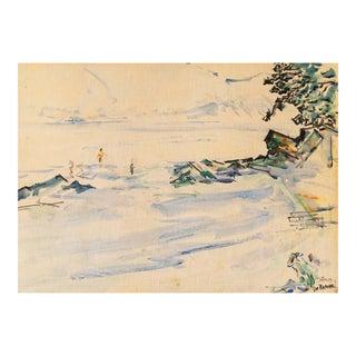 'Bay of Rapallo, Italy' by Joseph Raphael, San Francisco Art Association, Ecole Des Beaux-Arts For Sale