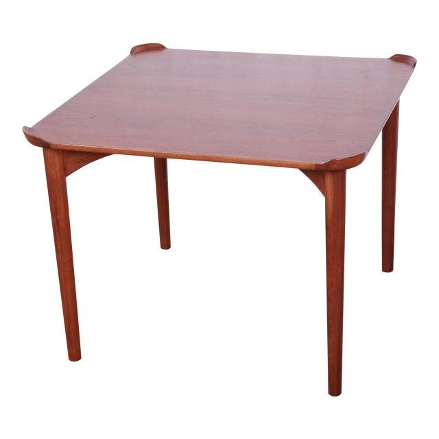 Finn Juhl for Baker Furniture Teak Game Table For Sale