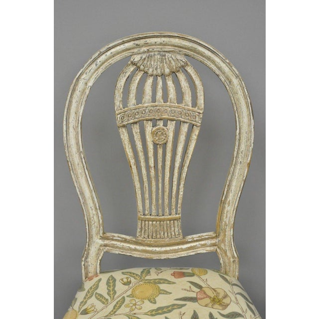 Mid 20th Century 20th Century Louis XVI French Style Hot Air Balloon Back Dining Chairs - Set of 6 For Sale - Image 5 of 13