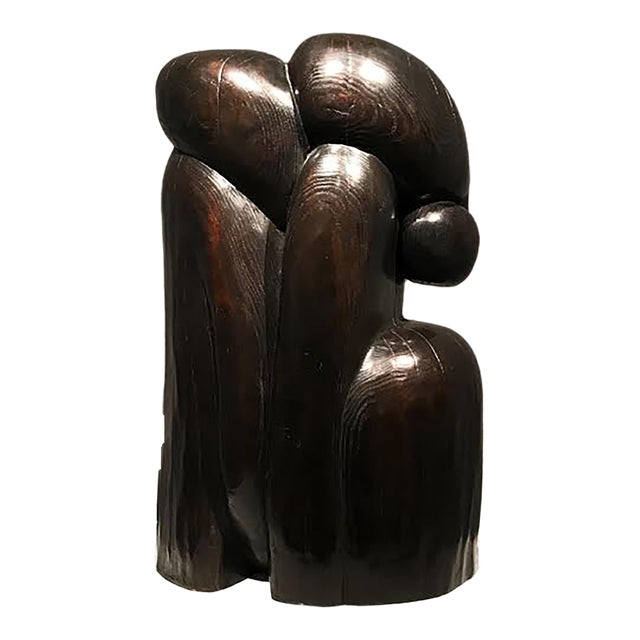 Bronze Sculpture by Wang Keping 王克平 - Couple For Sale