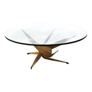 Sila Seandel Brutalist Style Torch Cut Coffee Table