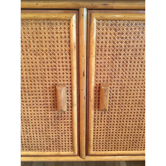 Vintage Rattan Buffet - Image 7 of 11