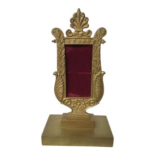 1880s French Empire Bronze Small Frame For Sale