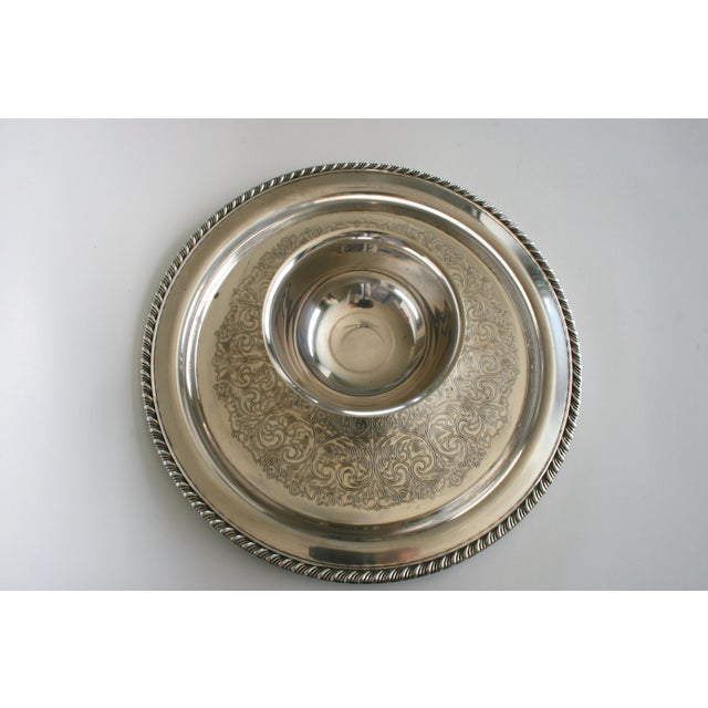 Chips, Dips and Vegetable Bits! This Silver Wm. A Roger (Oneida Ltd. Silversmith) serving tray is a beautiful addition to...