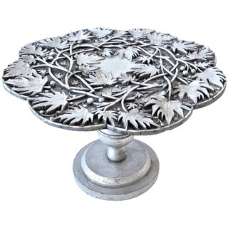 James Mont Silver Leaf Side Table