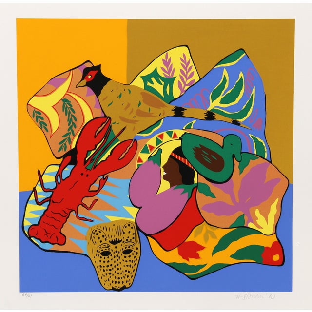 Serigraph, signed and numbered in pencil, by American artist Hunt Slonem. Artist: Hunt Slonem, American (1951 - ) Title:...