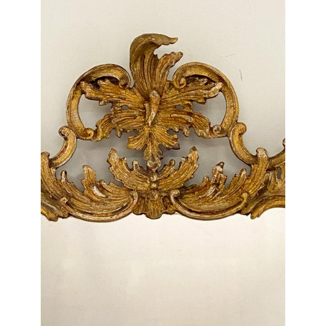 1960s Vintage Italian Gilt and Painted Mirror For Sale - Image 5 of 7