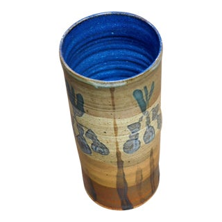 1960s William Creitz Pottery Artisan Vase For Sale