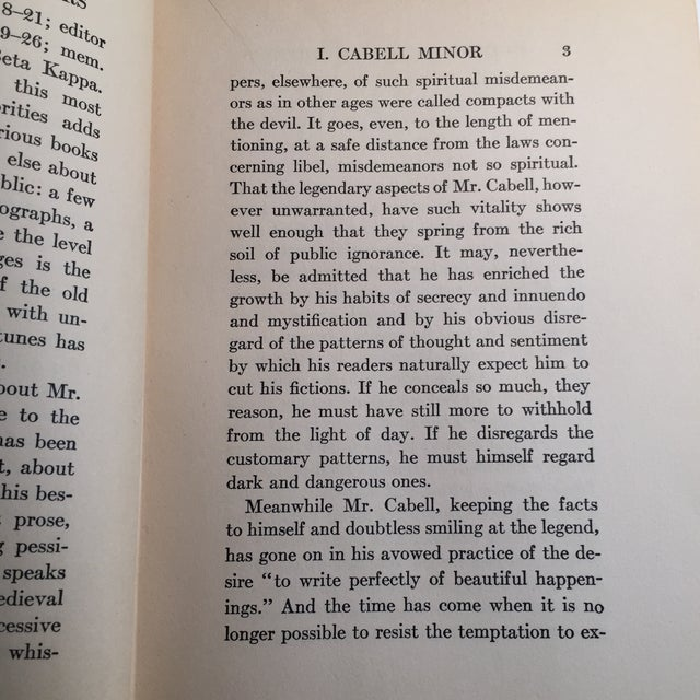 'James Branch Cabell' Vintage Book For Sale - Image 4 of 6