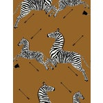 Sample, Scalamandre Zebras, Safari Brown Wallpaper