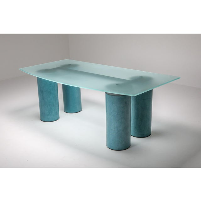 1970s Massimo Vignelli 'Serenissimo' Dining Table/Desk for Acerbis For Sale - Image 6 of 13